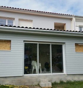 Après l'extension maison