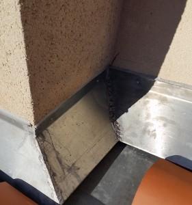 zinguerie contour de cheminée