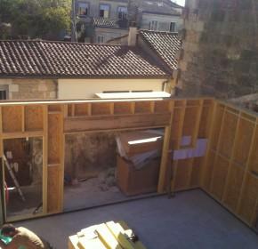 maison ossature bois bordeaux mur