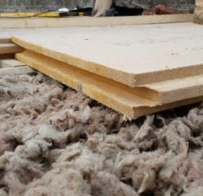 isolation laine de roche et bois compressé