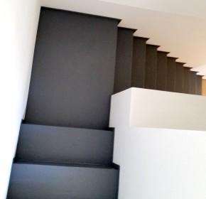 escalier bois effet beton